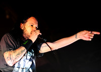 Jonathan Davis performs a DJ set under the name J Devil